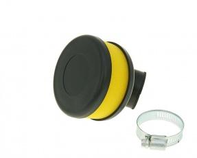 Vzduchový filter Flat Foam žltý  28/35mm zahnutý