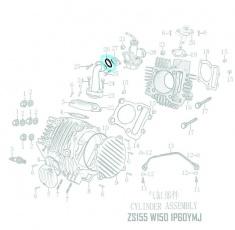 Gumové tesnenie O-krúžok 29x2,4mm -na medzikus karburátora