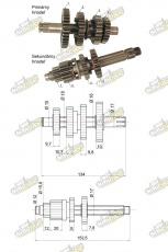 Prevodovka YX140 pre motory 1P56