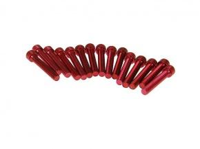 Skrutky krytu variátora červené pre motor Piaggio