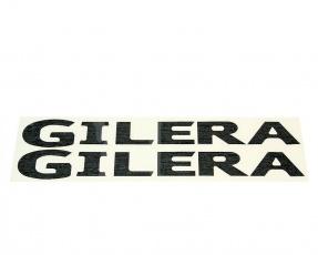 Nálepka Gilera [logo] - čierne - 2ks