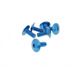 Skrutka ALU M6x15 6ks - modrá