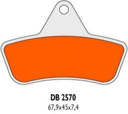 Brzdové obloženie DB2570QDN