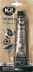 Tesniaci silikón K2 do 350°C 85g čierny