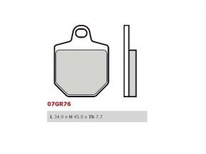 Brzdové obloženie Brembo predné pre KTM SMR, 450ccm - 07 07GR76RC
