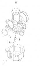 Karburátor pre štvorkolku SMC Jumbo 301 302 R5
