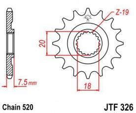 Záberové kolečko 13z pre Honda CR 125 87-03 JTF32613