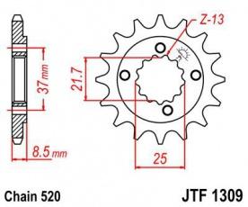 Záberové kolečko pre Honda XR600 JTF1309-14z