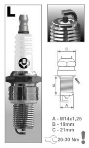 Zapaľovacia sviečka BRISK L14C SUPER