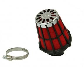 Vzduchový filter Malossi Racing 38mm - čiernočervený