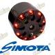 Filter vzduchový Simota 48mm s LED podsvietením chrómový