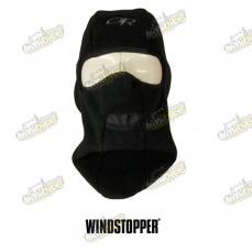 Kukla Windstopper s otvorom na dýchanie zakrytým jemným fleecom
