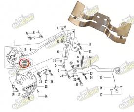 Držiak brzdových platničiek pre PisterPro LXR12-14