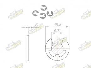 Poistný krúžok pre hriadele 2,3mm