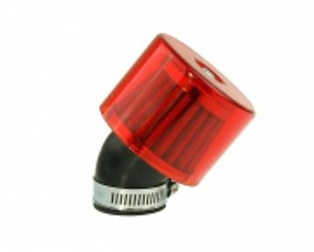 Vzduchový filter 35-38mm 45° zakrytý vytočený červený