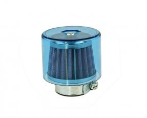 Vzduchový filter 35-38mm modrý s krytom priamy