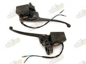 Brzdová pumpa ľavá okrúhly spínač držiak zrkadla M10P