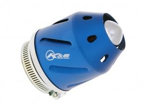 Vzduchový filter K&S konektor 35/48mm (s adaptérom) - modrý