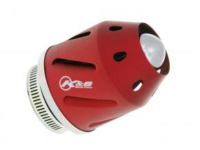 Vzduchový filter K&S konektor 35/48mm (s adaptérom) - červený
