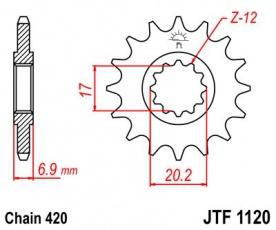 Záberové koliesko AM6 JTF1120-14zubové